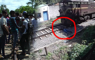 Youth commits suicide by lying down in front of train in Matara