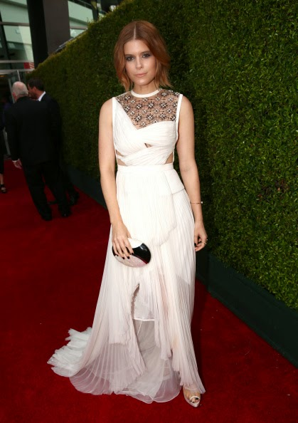 Kate Mara Carries Thalé Blanc to the 2014 Emmys