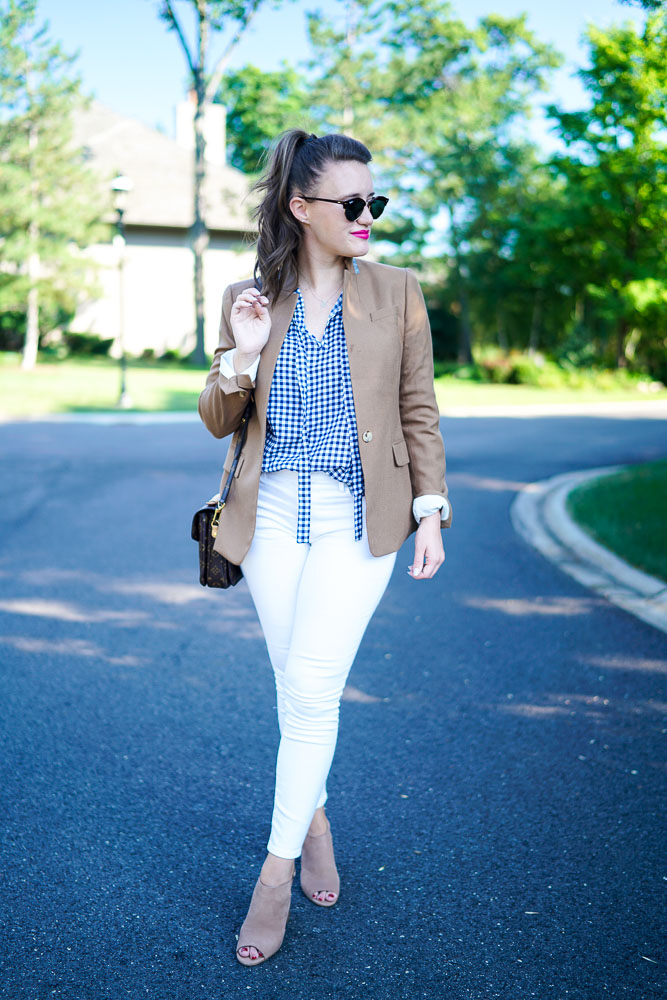Gingham shirts, gingham for fall, gingham style, white after labor day