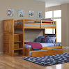Discovery World Furniture Mission Twin Over Full Staircase Bunk Bed