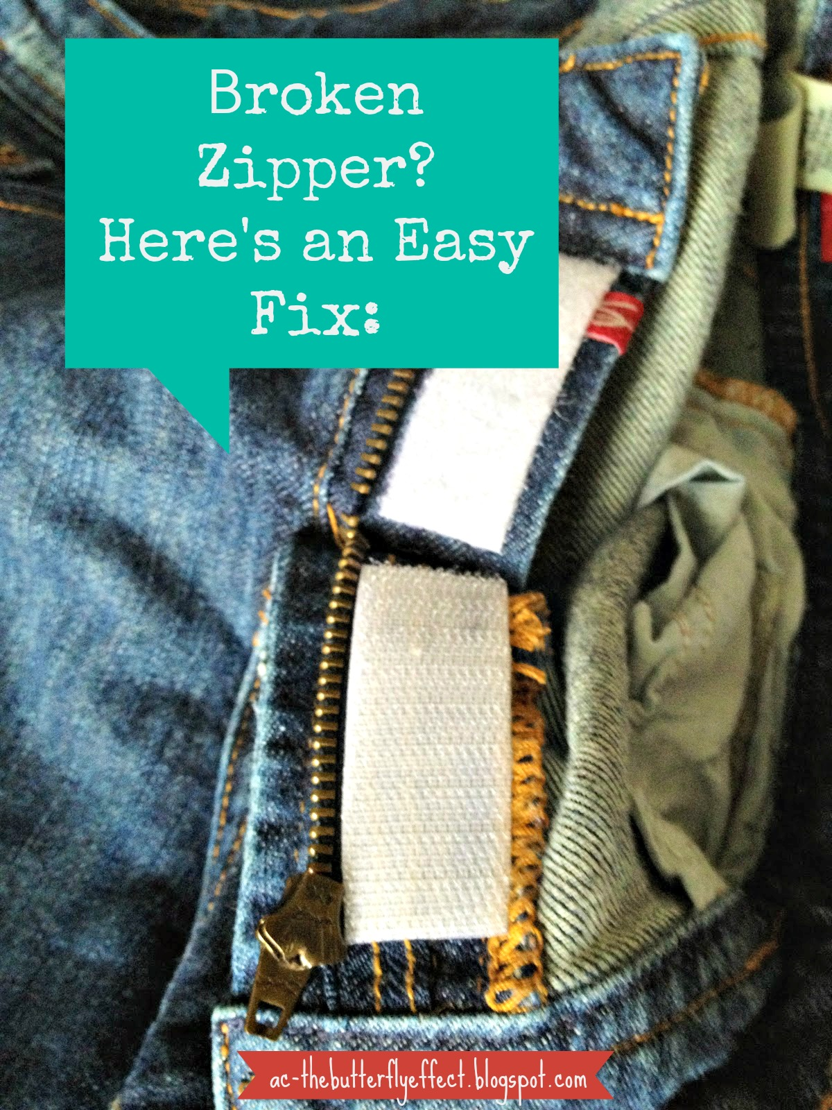 The Butterfly Effect: Fixing Broken Zippers: The Lazy Girl