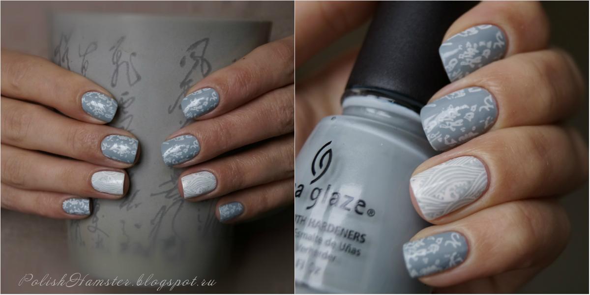 China Glaze Sea Spray & MoYou Suki 04