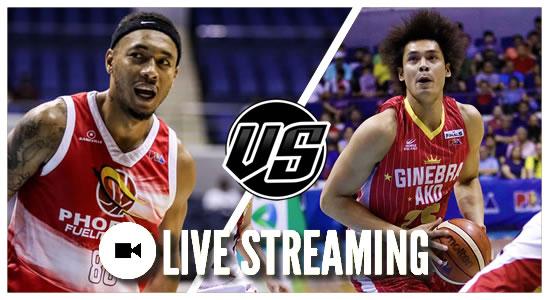 LIVE STREAMING: Phoenix vs Ginebra 2019 PBA Philippine Cup