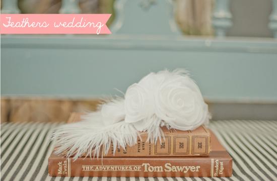 feathers wedding, roaring 20s wedding