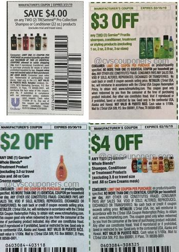 Garnier, Tresemme, L'Oreal Elvive Big Hair deals coupons