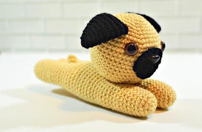 amigurumi pug dog crochet pattern