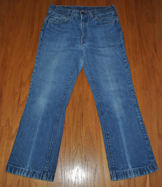 70s Levis 517 top button stamped 16 Front Overview