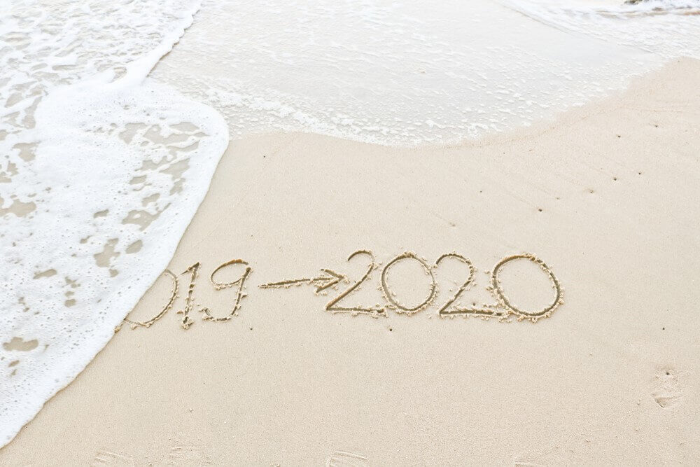 Happy New Year 2020 Images, White Sand