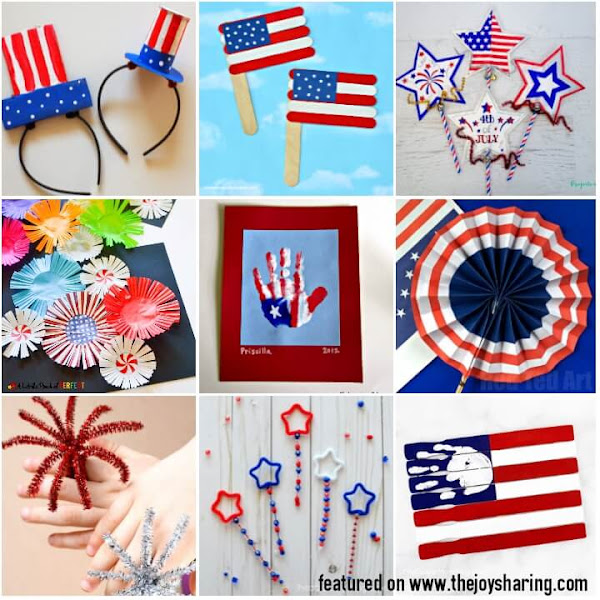 Patriotic activities for kids to celebrate 4th of July holiday.