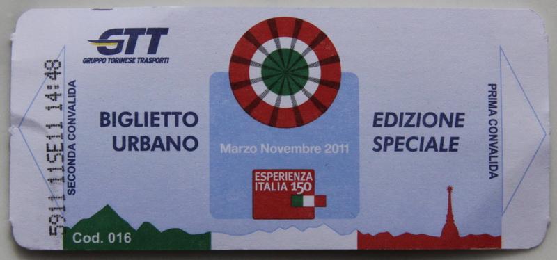 билет на транспорт в Турине