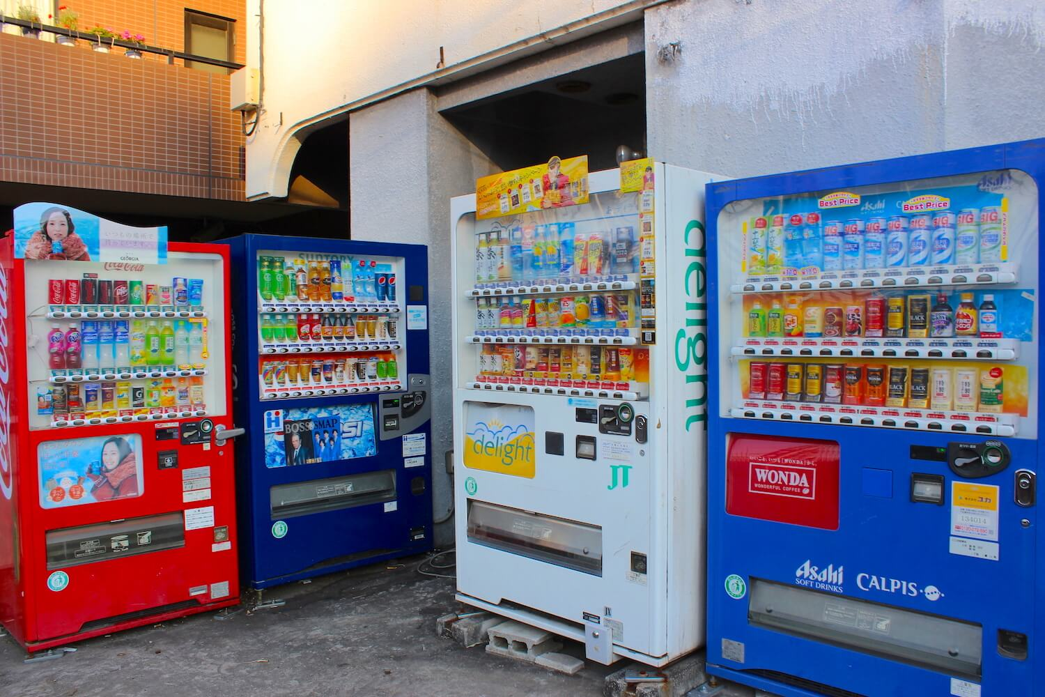 many japanese vending machine jihanki