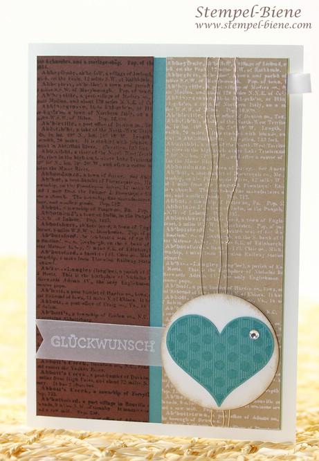 Stampin' Up schlichte Hochzeitskarte, Hochzeitskarte mit Dictionary, Stampin Up Dictionary, Stampin Up Megarabatte, Stampin Up Sammelbestellung