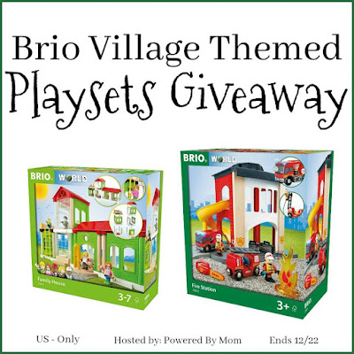 Enter the Brio Village Themed Playsets Giveaway. Ends 12/22