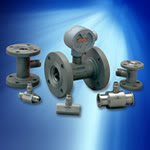 Several industrial process control turbine flow meters