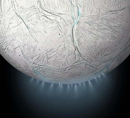 Laporan Penelitian Wahana Cassini Menemukan Makanan Untuk Mikroba di Bulan Enceladus