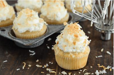 TRIPLE COCONUT POKE CUPCAKES #dessert