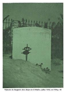 Túmulo de Augusto dos Anjos em 1952