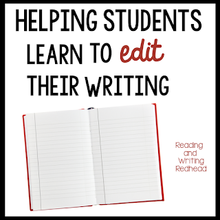 Helping Students Learn to Edit their Writing from Reading and Writing Redhead