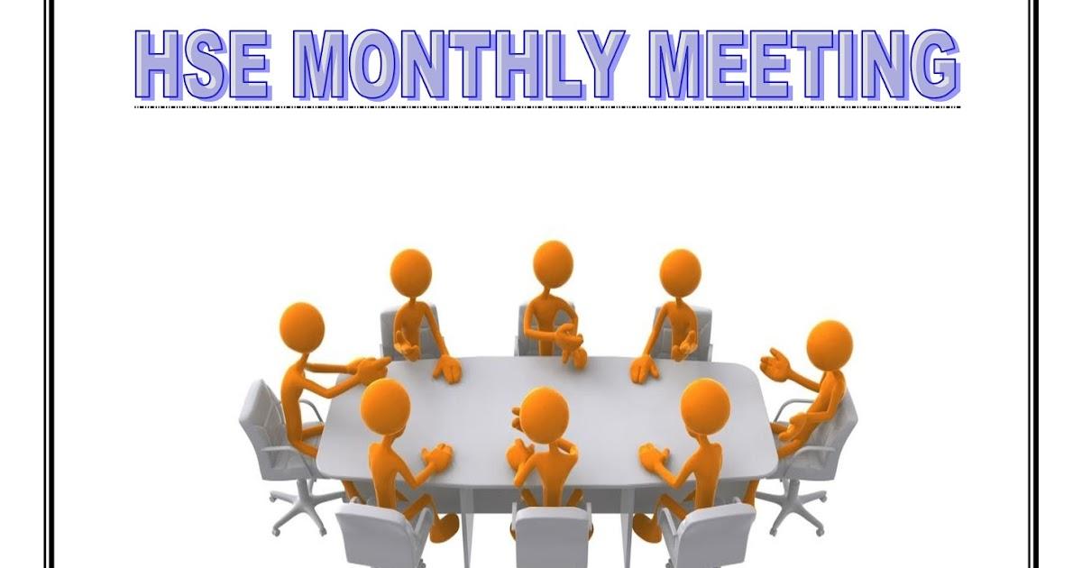 Hsedot Com Hse Monthly Meeting Sample Format