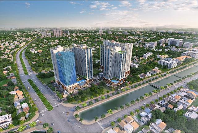 Phối cảnh dự án Hinode city 201 Minh Khai