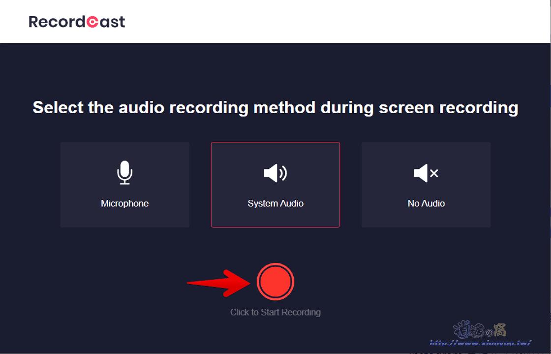 RecordCast 線上螢幕錄影工具