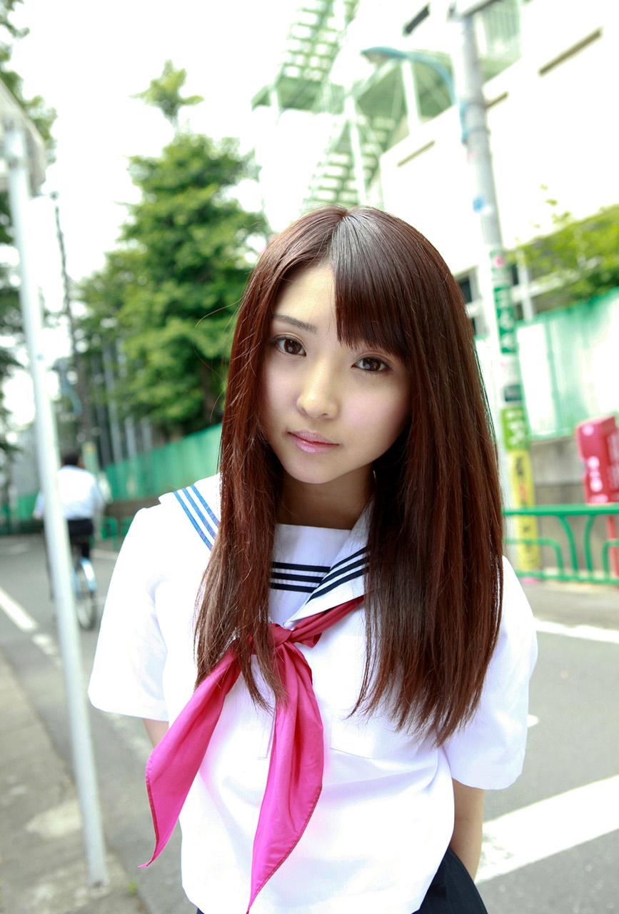 Yoshiko Suenaga Cute Japanese School Girl Costume Cosplay