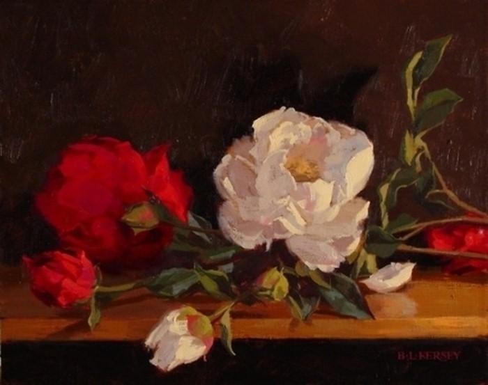 Рисунки цветов. Laurie Kersey 21