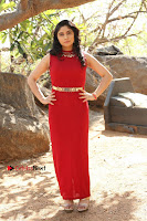 Telugu Actress Zahida Sam Latest Pos in Red Gown at RF Films New Movie Opening  0155.JPG