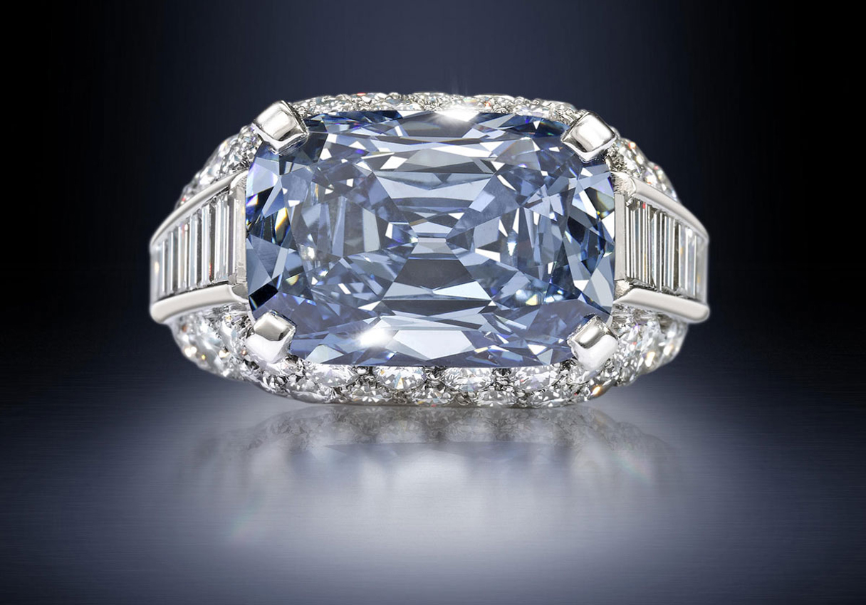 Luxury Life Design Rare Blue Diamond Fetches Record 96 Million