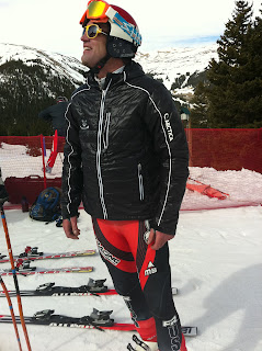 skier in black jacket