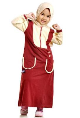 busana muslim anak perempuan untuk pesta