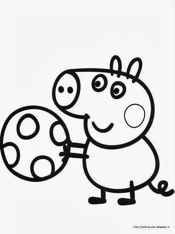 Disegno Peppa Pig Da Colorare.Coloratutto Peppa Pig Disegno Da Colorare N 14
