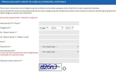 Apply Kartu Kredit BCA Online