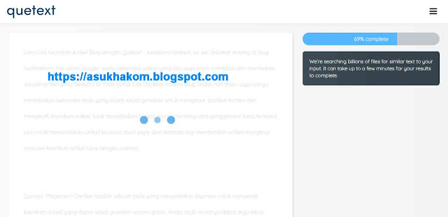 Cara Cek Keunikan Artikel Blog menggunakan Quetext