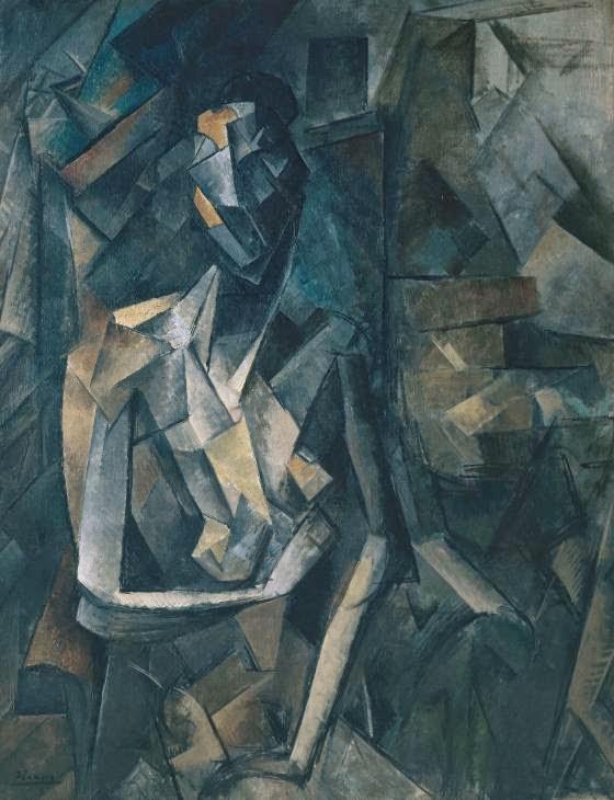 Nu Sentado - Picasso e suas pinturas ~ O maior expoente da Arte Moderna