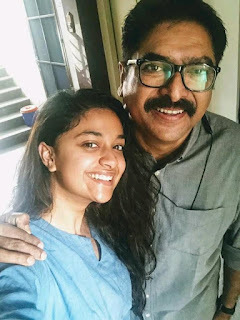 Keerthy Suresh with Cute Smile Latest Selfie