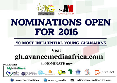 Nomination Opens For 2016 50 Most Influential Young Ghanaians