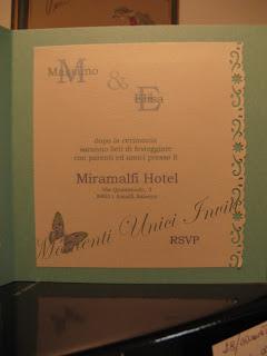 tifbut3 Partecipazione card in cartoncino perlescente con farfalla intagliataColore Tiffany