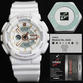 Jam Tangan baby G warna putih