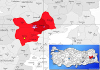 Bulanık ilçesinin nerede olduğunu gösteren harita