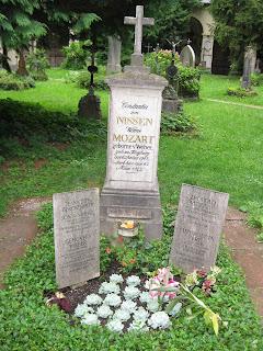 Constanze Weber Mozart Nissen's grave in Sebastiansfriedhof Cemetery