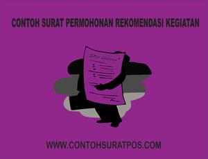 Gambar untuk Contoh Surat Permohonan Rekomendasi Kegiatan
