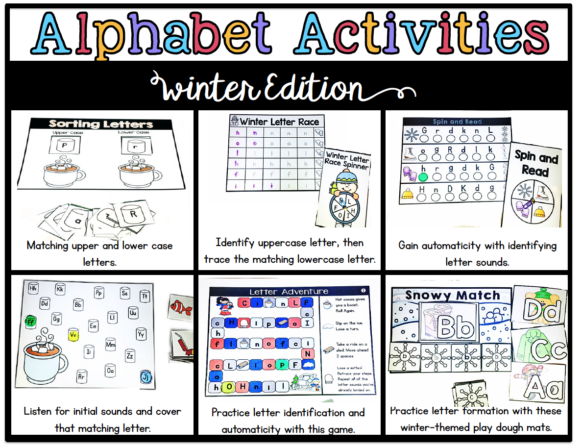 letter b activities s grade snippets alphabet activities for winter 10930