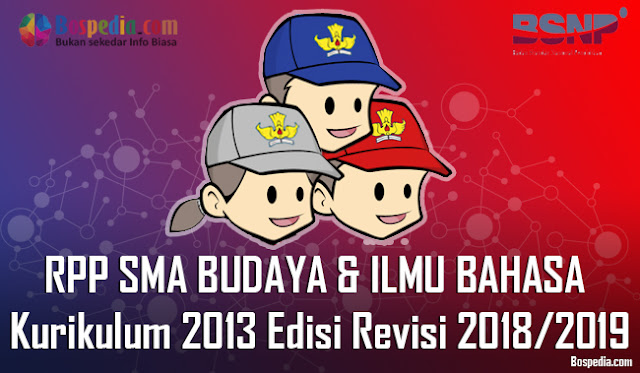Silabus dan RPP Untuk Kelas 10,11,12 SMA BUDAYA DAN ILMU BAHASA Kurikulum 2013 Edisi Revisi 2018/2019