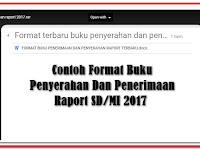 Download Contoh Format Buku Penyerahan Dan Penerimaan Raport SD/MI Terbaru 2017