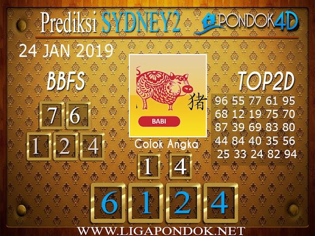 Prediksi Togel SYDNEY2 PONDOK4D 24 JANUARI 2019