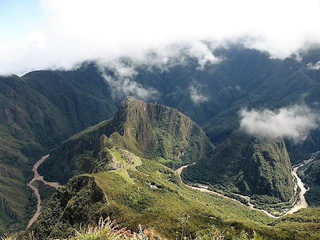 Machupicchu, vistas desde la montaña