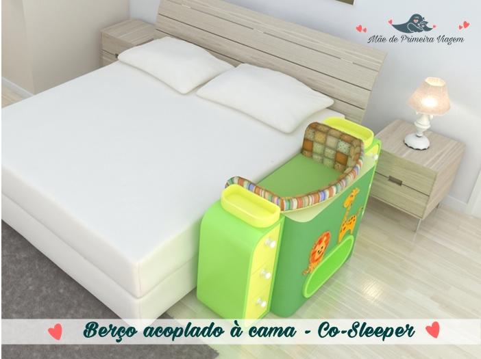 Berço acoplado à cama - Co-Sleeper