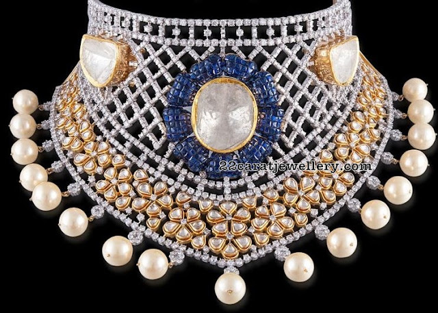 Diamond Choker Blue Sapphire