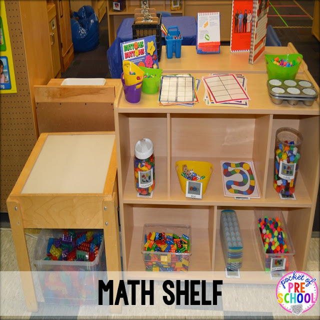 Math And Science Classroom Decorations ~ Classroom reveal and a freebie pocket of preschool